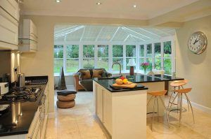 Conservatory to kitchen extension in the Oxford area