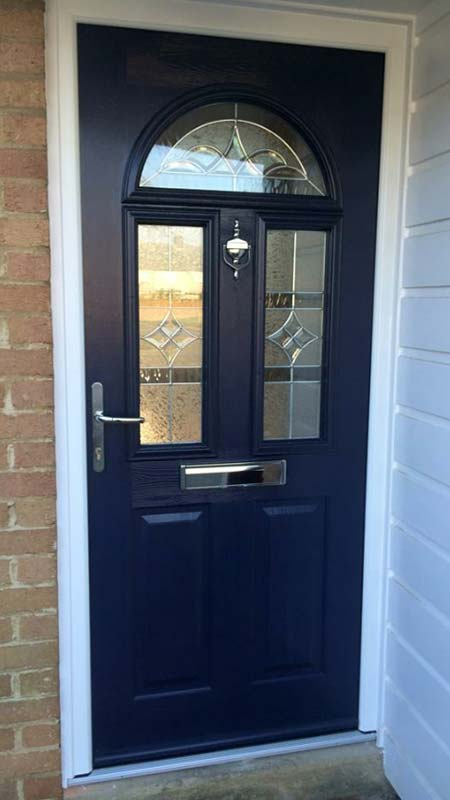 Blue front door with panelling Bristol & Oxfordshire