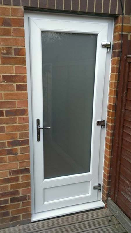 White PVC Door Bristol supply and fit