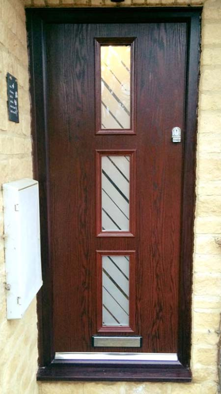 3 panel wooden door Oxfordshire